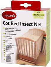 Clippasafe Cot Bed Insect Net Mesh Baby Child Kids Nursery Safety Proofing