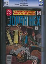 Jonah Hex # 1 CGC 9.6  Off White to White Pages. UnRestored.