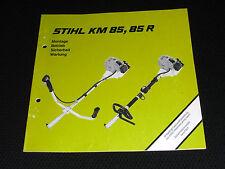 Stihl KM 85 Betriebsanleitung Bedienungsanleitung Anweisung Gebrauchsanleitung R
