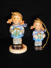 Goebel Hummel Christmas Time Set #2106 Figure & #2106/O Matching Ornament Mib