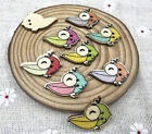 Big mouthbirds Wooden Buttons Mixed-color Sewing Scrapbooking Crafts 25mm