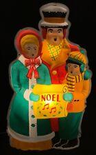Jumbo Vintage Noma Illuminated Vinylite Plaque - Caroler Family