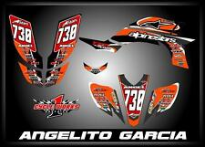 Yamaha YFZ 450 04-09  SEMI CUSTOM GRAPHICS KIT Angel
