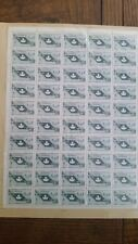 Canadian stamps full sheet of 50 MNH, International Co-operation, slate gn #437
