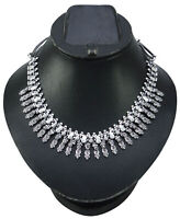 Silvertone Designer Belly Dance Banjara Kuchi Tribal Choker Necklace Jewelry
