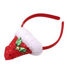 Fun Santa Holiday Cap Xmas Hat Hairband Headband Gift Costume Christmas Decor HO
