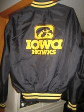 vintage 1980's Iowa Hawkeyes football logo Delong jacket Hayden Fry era rare Xl