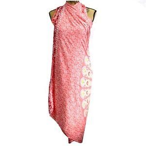Mandala Sarong Wrap Shawl Bali Plain Maxi Beach Pink Swimwear Cover-up Fringe UK
