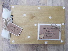 PERSONALISED WEDDING MEMORIES WOODEN SCRAPBOOK/PHOTO BOOK /MEMORIES