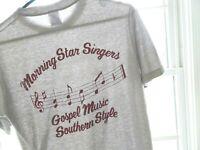Vtg 80s Southern Gospel Music Singers Grunge Surf Skate Thin 50/50 Gray TShirt M