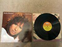 "Barbara Streisand Love Songs Vinyl 12"" LP 1981 CBS 10031"