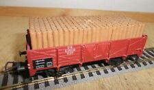 Fleischmann H0 5203 Güterwagen Hochbordwagen der DB 631025 mit Holzladung