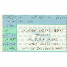 The Black Crowes & The Jayhawks Concert Ticket Stub Davenport 2/20/93 Palmer