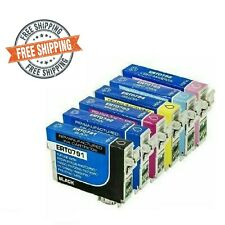 6 PK 79 Reman Ink Cartridges For Epson Stylus Photo1400 Artisan1430 T079 791-796