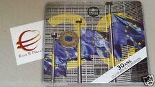 card 2 euro 2015 fdc FRANCIA france frankreich 20 bandiera flag drapeau blister