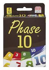 Mattel Games FPW38 Phase 10 Kartenspiel, geeignet für 2 - 6 Spieler, Spieldauer