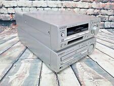 Sharp Audio Shelf System Stereo Minidisc MD CD Radio Tuner MD-MX10 Working Used