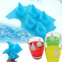 1PC New Shark Ice Mold Silicone DIY Drink Shark Fin Shape Ice Cube Freeze Mould