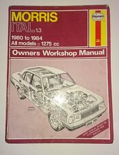 Haynes Morris Ital 1.3 (1980 - 1984 All Models) Owners Workshop Manual Book