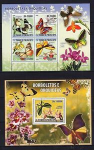 Sao Tome - Butterflies / Papillons / Insects - timbres / Briefmarken MNH** - AH
