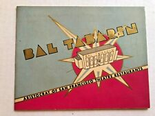 1946 Souvenir Photo Holder from Bal Tabarin Restaurant in San Francisco w/ Photo