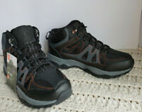 Mens Hikers Boots Ozark Trail Leather Lace-Up Dual Density Sole Lightweight Blac