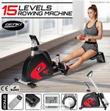 Exercise Power Rower Resistance Magnetic Flywheel Rowing Machine w/ Water Bottle