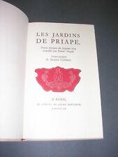 Erotisme Curiosa R. Arnaut Les Jardins de Priapes 1960 numéroté gravures
