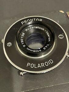 VINTAGE RODENSTOCK-YSARON 1:4.5 F=105MM LENS ON POLAROID PRONTOR SHUTTER GERMANY