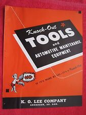 1945 KNOCK-OUT TOOLS & AUTO SHOP EQUIPMENT, K.O. LEE Co. ABERDEEN,SD BROCHURE