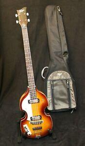 Höfner Allumage Violin E-Bass HI-BB-SE-SB-L Gaucher + Original Sac Neuf / Neuf