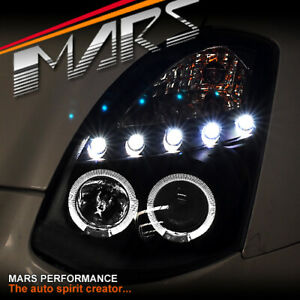 LED DRL Angel Eyes Projector Head Lights for NISSAN INFINITI G35 V35 350GT Coupe