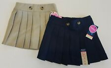 French Toast Official Schoolwear Skirt/Skort Pleated Front with Button Detail