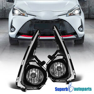 For 2018-2019 18-19 Toyota Yaris Hatchback Front Bumper Fog Lights w/ Switch