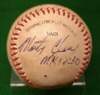 Richmond Atlanta Braves Marty Clary Autographed Game Used Baseball