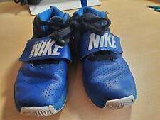 Nike Boys Size 2.5Y (youth) Athletic Tennis Shoes Color Blue (used)