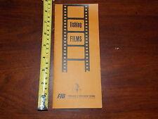 FISHING FILMS ADVERTISMENT BROCHURE FIB INFORMATION BUREAU 16MM