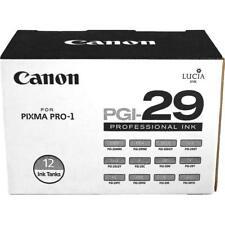 Canon PGI-29 12-Color Ink Tanks Set - For Pixma Pro-1 Inkjet Printer 4868B006AA