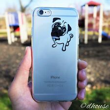 MADE IN JAPAN Soft Clear Case Cute Pug Dog for iPhone 6 Plus & iPhone 6s Plus
