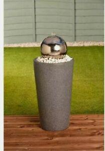 New Stainless Steel Gazing Ball Water Feature Garden Patio Outdoor
