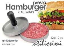 PRESSA PER HAMBURGER IN ALLUMINIO ANTIADERENTE 12*10 CM FUO-712562