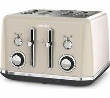 BREVILLE Mostra VTT930 4-Slice Toaster - Cream - Currys