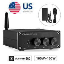 Nobsound 200W Mini Bluetooth Digital Power Amplifier HiFi Stereo Audio Bass Amp
