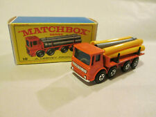 Matchbox Superfast Leyland Pipe Truck #10 England w/Original Lesney Box