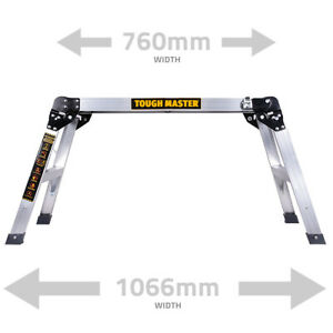 Aluminium Hop up Step Ladder Odd Job Folding Stool Platform Work Bench 700MM