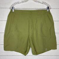 Royal Robbins Womens Size 12 Shorts Hiking Nylon Green Quick Dry Zip Pockets