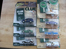 "Lot of 7 Hasbro Johnny Lightning ""Clue"" series vehicles"