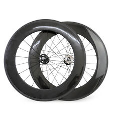 88mm depth Front and Rear Fixed Gear Track Bike Carbon Bicycle Clincher wheelset
