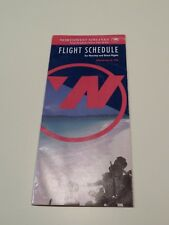 Northwest Airlines Timetable  June 10, 1992 =