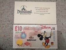 "BANKSY DISMALAND Original Big 10 Livres Sterling Note Canvas "" Mouse """